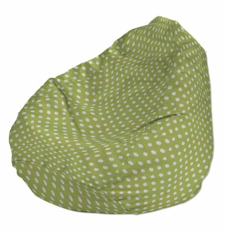 Babzsákfotel Primavera - zöld alapon fehér pöttyös - Dekoria Beanbag