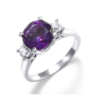 Gold jewellery: Purple Diamond Engagement Rings