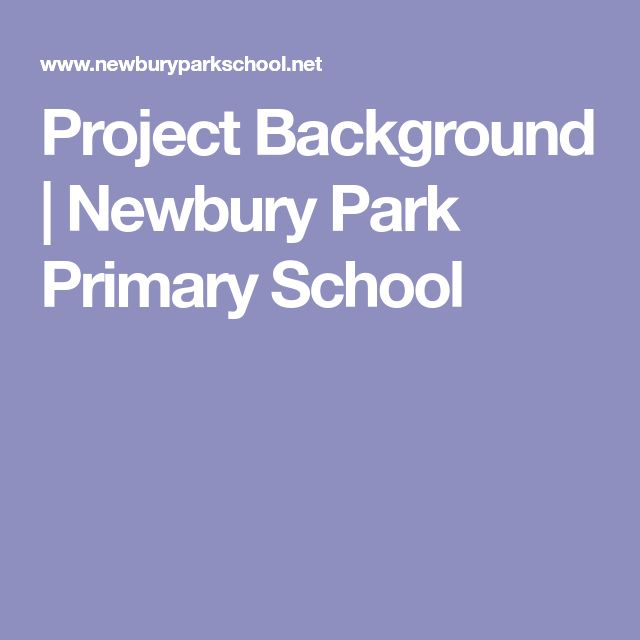 Project Background | Newbury Park Primary School