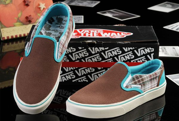Vans Brown Green New York Map Classic Slip-On Checkerboard Canvas Skate Shoes Outlet [13060108] - $39.99 : Vans Shop, Vans Shop in California