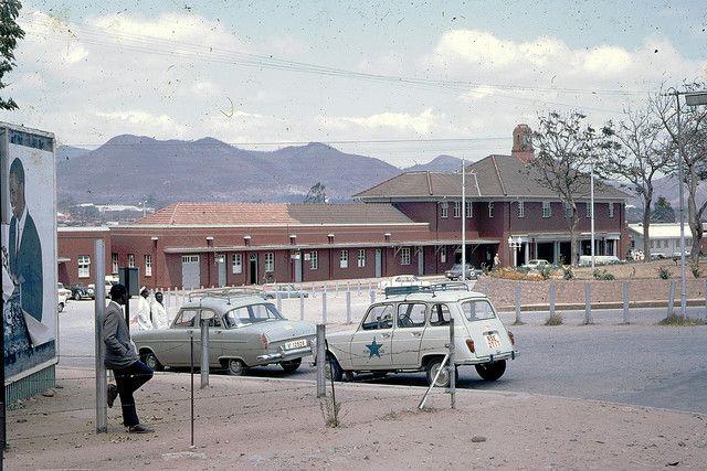 Umtali railway station (in background), 1968