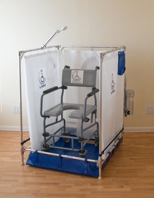 Temporary Shower Enclosures : Best images about portable wheelchair shower on