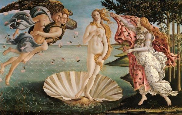 Sandro Botticelli - Die Geburt der Venus (Auch die Schaumgeborene oder La nascita de Venere)