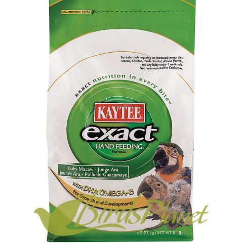 exact Hand Feeding Formula contains probiotics to encourage a healthy population of intestinal microorganisms. The selected species have been chosen specifically for their vitality, stability, and overall benefits to a bird's system.