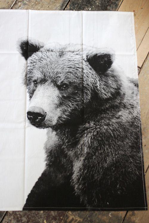Bear Tea towel - Shop at www.aprilandthebear.com