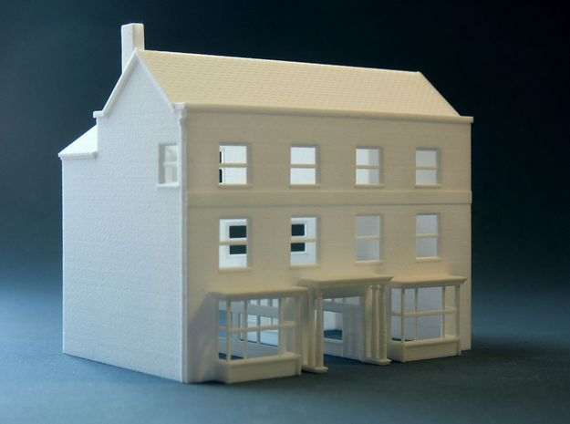 3d printed british n scale n gauge high street town 3d printer models free