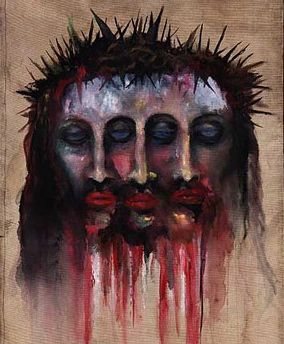 this speaks volumes to me. painted by marilyn manson.