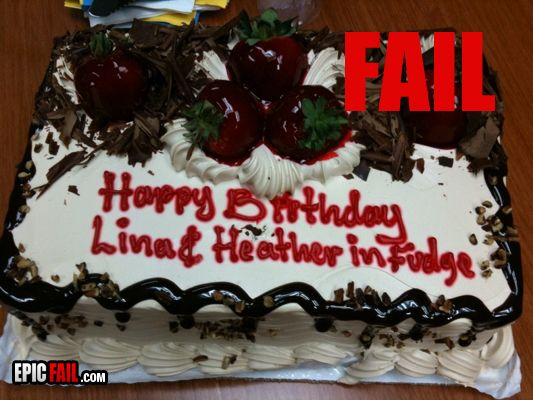 Messed Up Cake Inscriptions
