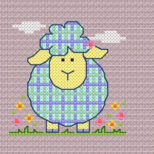 free cross stitch chart for April