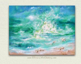 TITRE : La marée MÉDIUM : Acrylique, mixé DIMENSIONS : 16 « x 16 » (profondeur 1,5)  Peint les côtés, lencadrement nest pas nécessaire.  Couche par couche, jai créé une texture unique. Belles vagues de turquoise ainsi que les coquillages et le sable sera un accent parfait Accueil. ________________________________   ❀ toutes les œuvres proviennent dun environnement sans fumée ni animaux. ❀ je suis en utilisant uniquement des matériaux de qualité professionnelle ❀ Certificat dauthenticité est…
