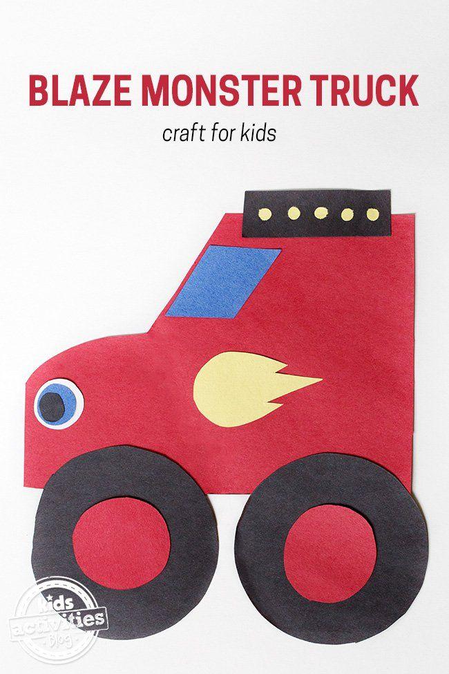 Blaze Monster Truck Craft