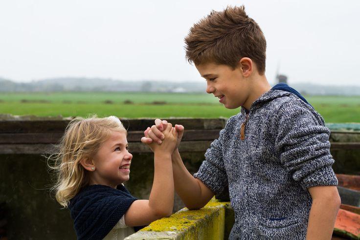 Broer en zus, kinderfotografie