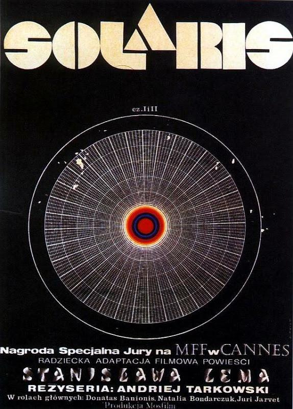 Andrzej Bertrandt's 1972 Polish movie poster for Tarkovsky's adaptation of Stanislaw Lem's Solaris