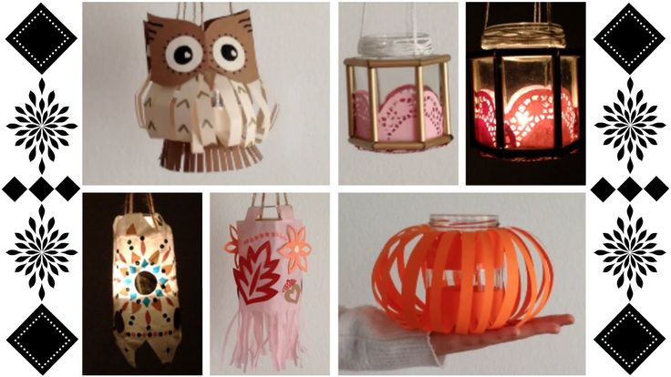 ◆◇ DIY Jar Lanterns | Autumn Style | Bohemian | Pumpkin and Owl Hallowee...