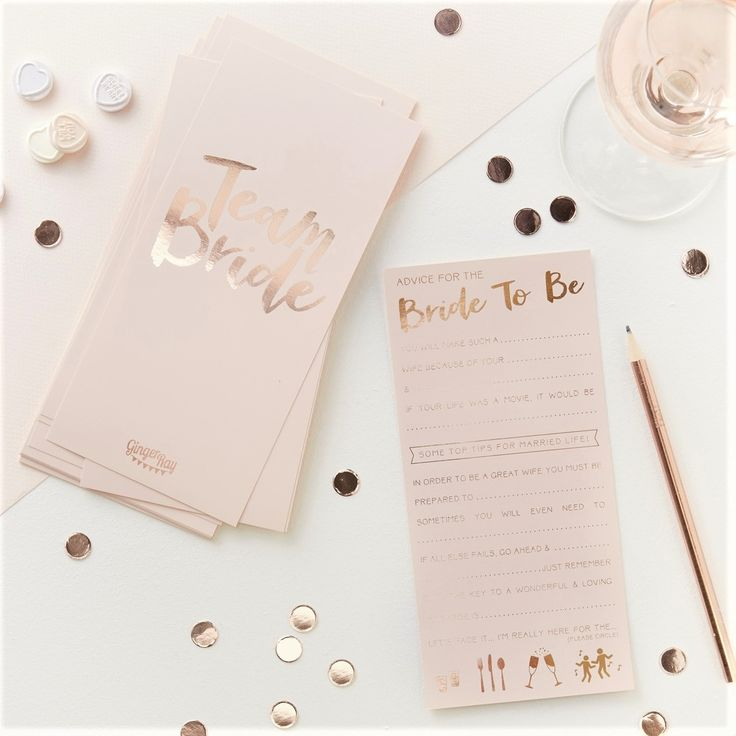 free bridal shower advice card template%0A Have some fun by filling out these Team Bride Advice cards for the BrideTo