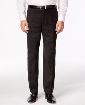 Shaquille O'Neal Collection Brown Neat Big and Tall Pants Only at Macy's - Brown 58L