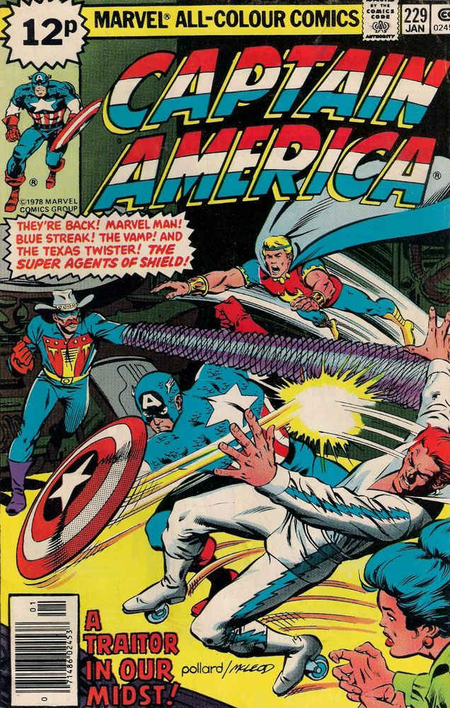 CAPTAIN AMERICA #229 MARVEL COMIC 1979 fine