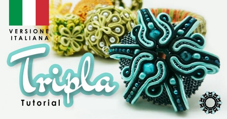 """Tripla"" pendente - tutorial gratuito di soutache 3D, Tender Decemer per Royal Stone http://blog.royal-stone.pl/tutorial-soutache-3d-tender-december/"