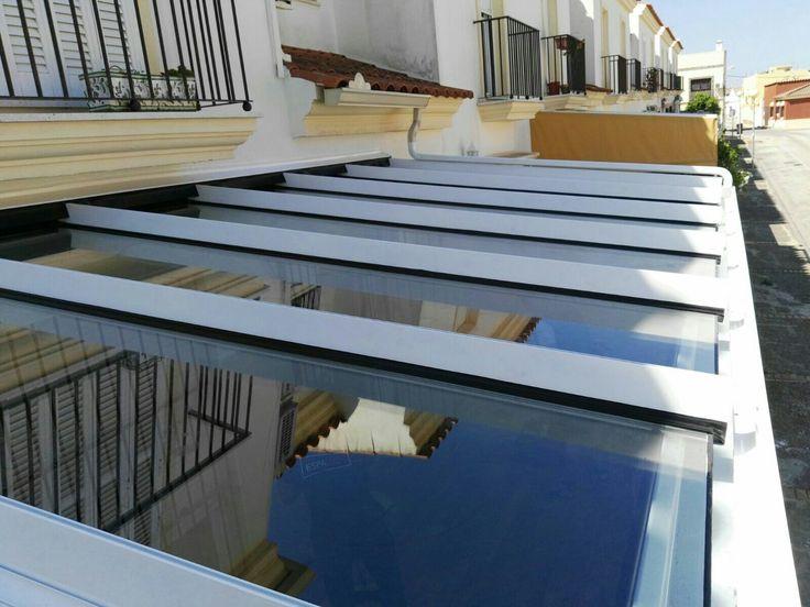 Techo Espaluz fijo de vidrio con protección solar