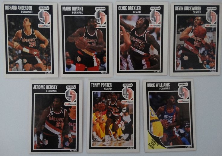 1989-90 Fleer Portland Trail Blazers Team Set Of 7 Basketball Cards #PortlandTrailBlazers