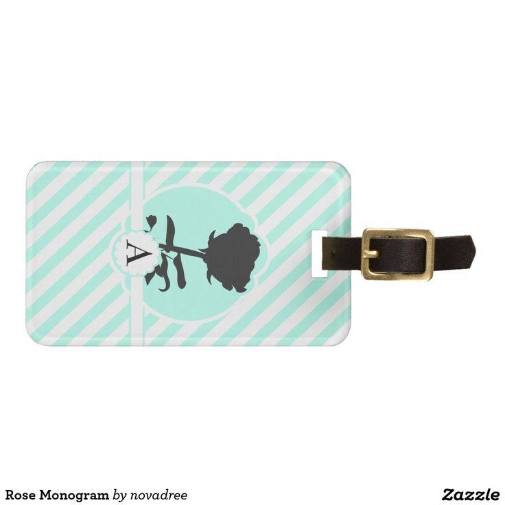 Rose Monogram Tag For Bags