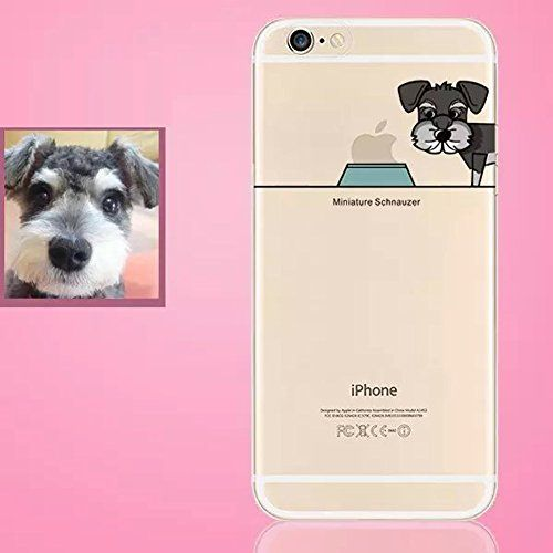 New Lovely Famous Dogs Clear Soft TPU Phone Case Cover for iPhone 5 5s (3#Schnauzer)