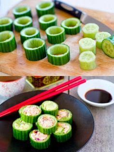 Paleo Sushi with Salmon and Avocado! Make healthier choices with tasty ingredients from seasonproducts.com!