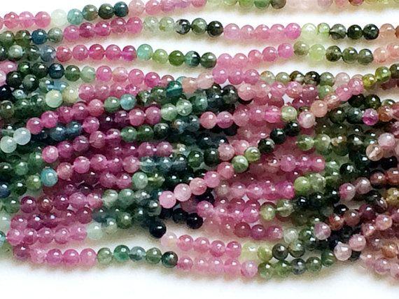 WHOLESALE 5 Strands Multi Tourmaline Beads Multi by gemsforjewels