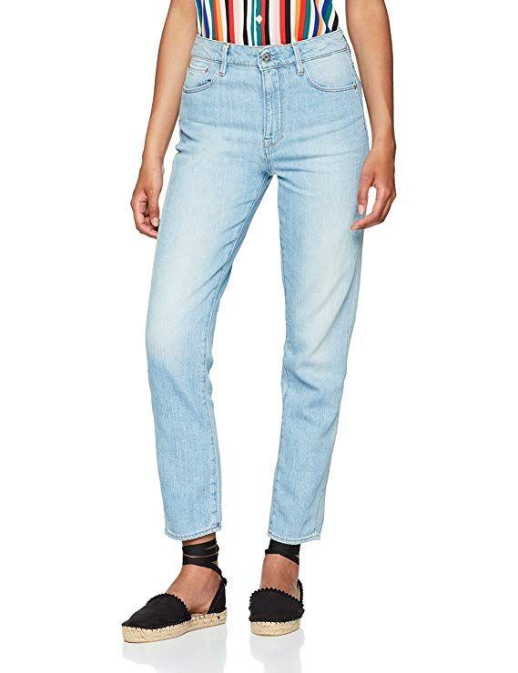 G Star Raw Damen Straight Jeans 3301 High 90 S Ankle Wmn Blau Light Aged W30 L32 Damen Damenmode Damenfrisuren Damenbekl Bekleidung Outfit Winter Mode
