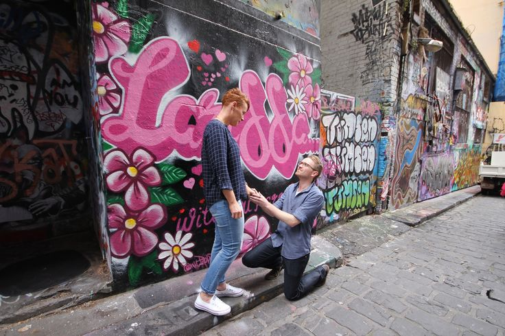 """Marry me Chloe"" - on lactation street art wedding proposal. November 2016. For sales enquires - www.kilproductions.com.au"