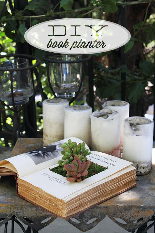 DIY BOOK PLANTERS FORSUCCULENTS: Plants, Clever Crafts, Make A Books, Diy Books, Diy Projects, Planters Ideas, Books Planters, Succulent Planters, Old Books