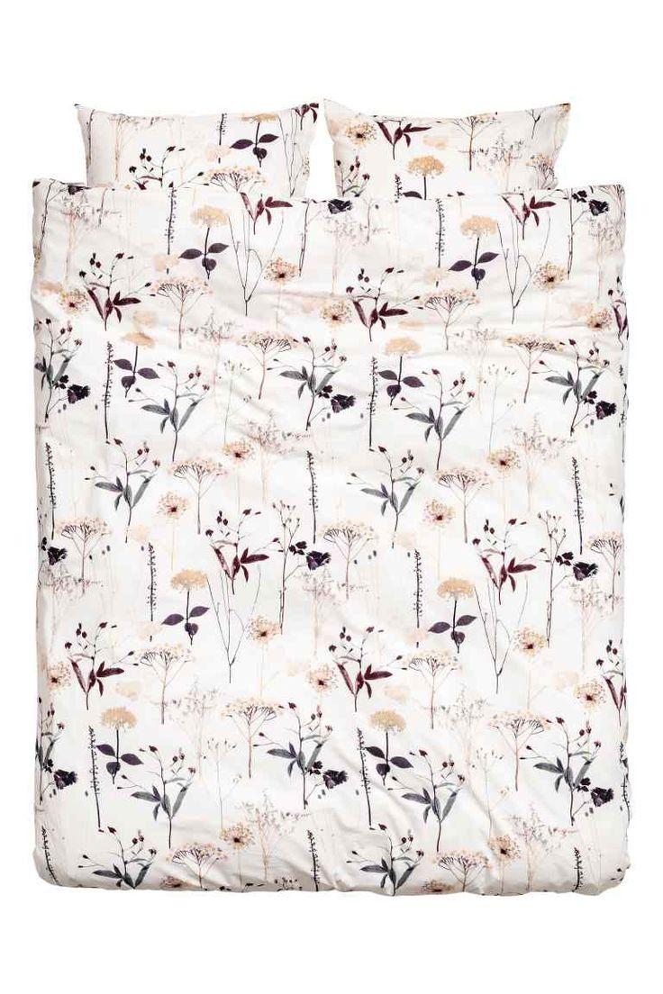 Funda nórdica estampada - Blanco floral - HOME | H&M ES