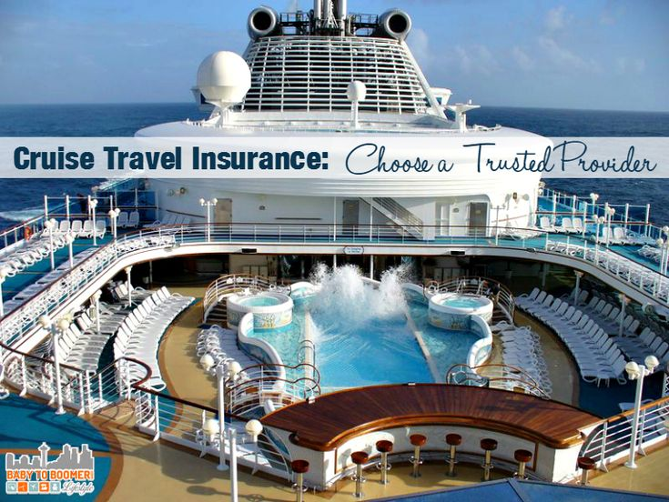 Cruise Insurance: Choose a Trusted Provider. Having coverage from a trusted name like Nationwide is the only way to be sure you're covered, ad