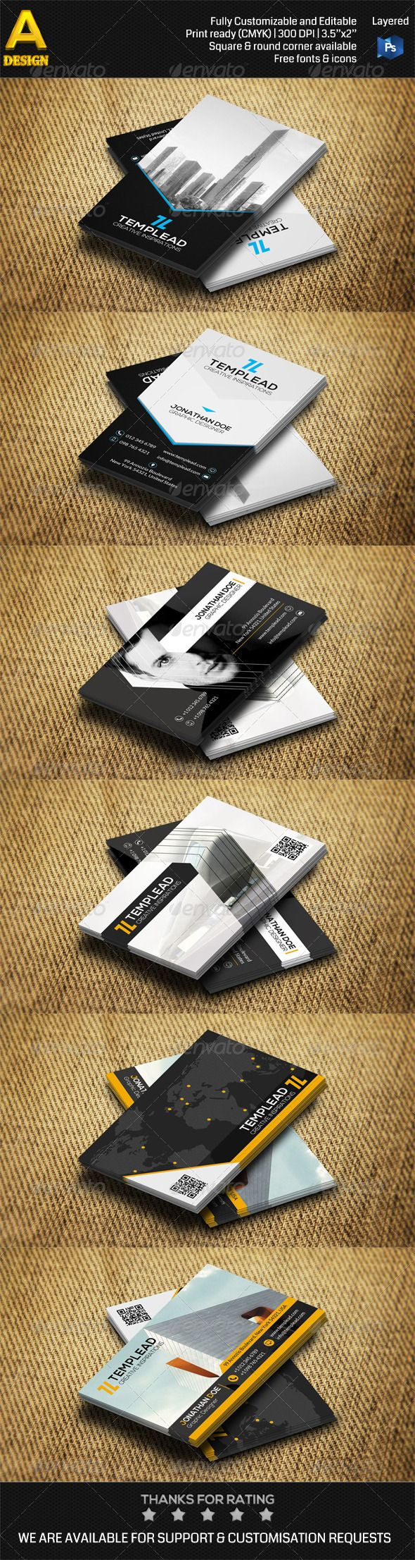 3 in 1 Construction Business Card Bundle Template #card #vcard Download: http://graphicriver.net/item/3-in-1-construction-business-card-bundle-0032/8590024?ref=ksioks