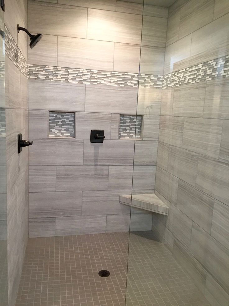 The 25  best Bathroom tile designs ideas on Pinterest Shower Master bathroom shower and