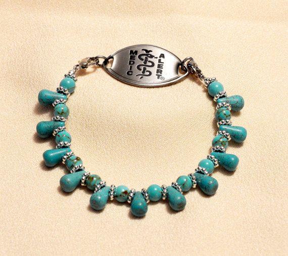 Medic Alert Jewelry Medical Bracelet Medic Alert by grammysattic12, $25.00