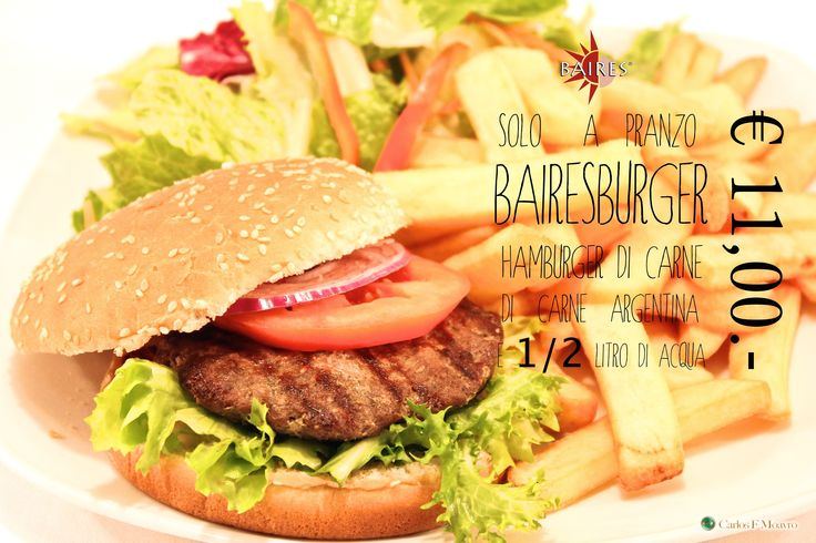 Hamburger de Angus Argentino | Baires Ristorante Argentino | Menù Pranzo Executive | www.baires.it