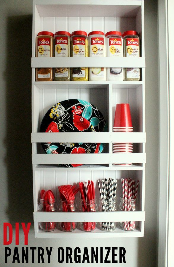 This diy shelf is perfect for getting your pantry for Perfect kitchen organization