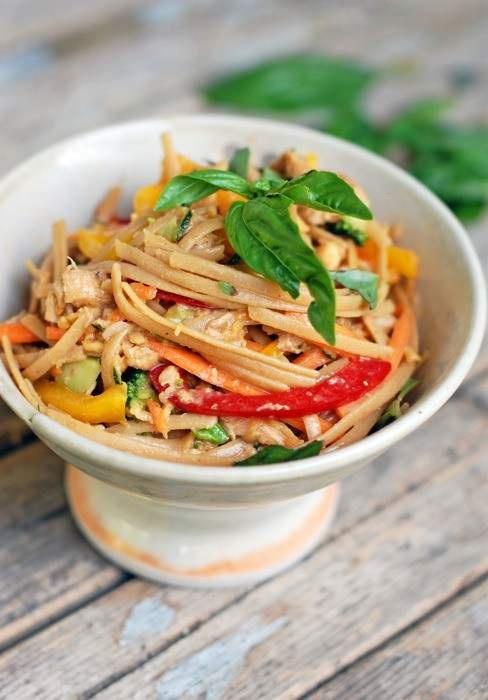 SPICY PEANUT CHICKEN SALAD | food | Pinterest
