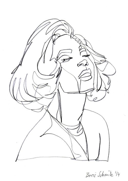 """""""Beyoncé"""", one-continuous-line-drawing by Boris Schmitz, 2014 Click »HERE« if you want to see my portfolio!"""
