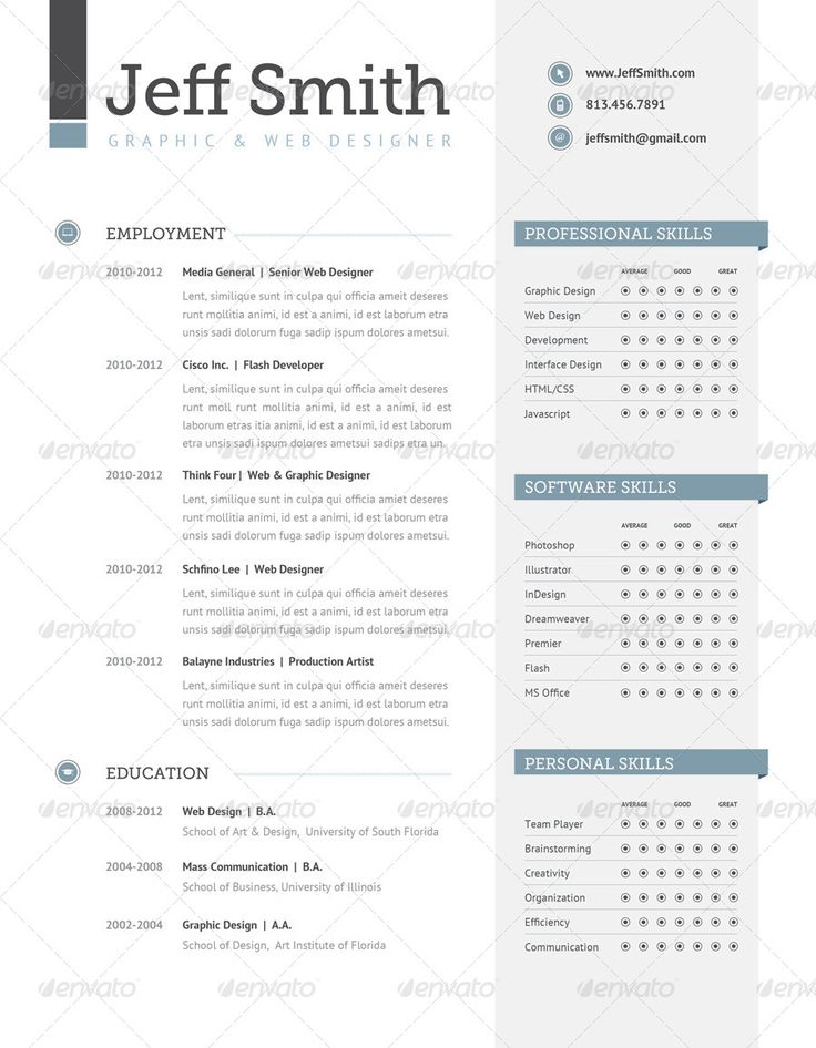 13 best Templates CV images on Pinterest Templates, Advertising - senior web developer resume