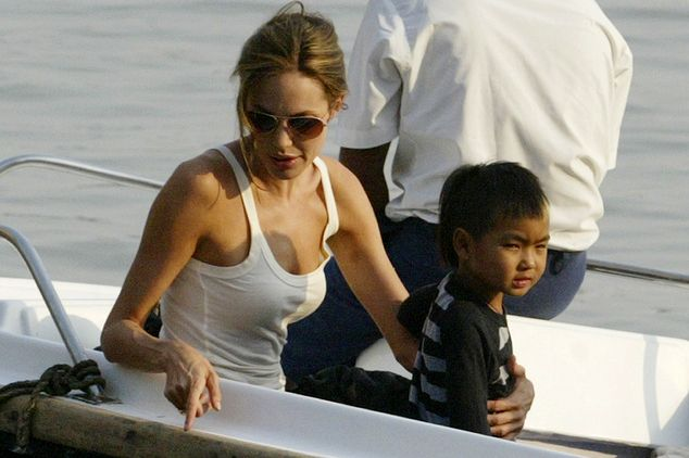 When Maddox was tony: In 2006 with her first son; now he is working on her new movie...