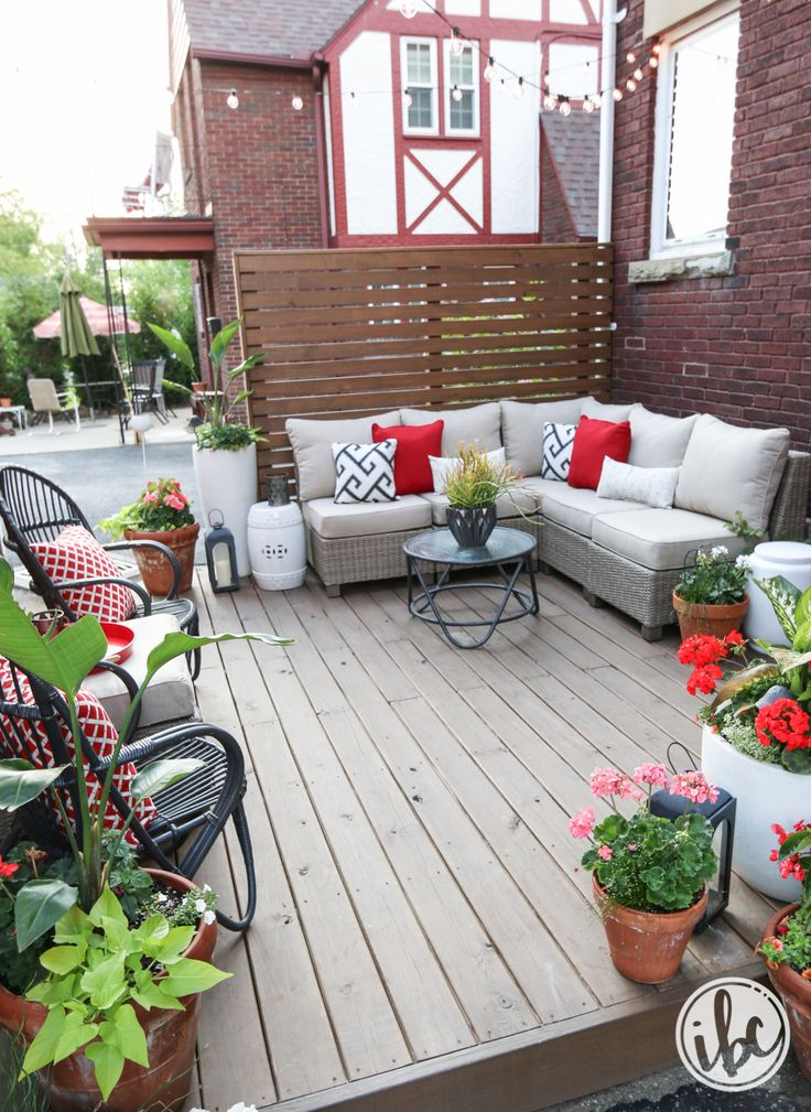 give your outdoor space some indoor style here i used some ceramic stools from homegoods as side tables they take up little space and handle the outdoor - The Outdoor Room