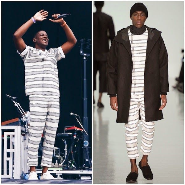 Labrinth at #WirelessFestival 2014 http://www.whats-he-wearing.com/2014/07/labrinth-agi-sam-striped-outfit-wireless-festival-2014.html