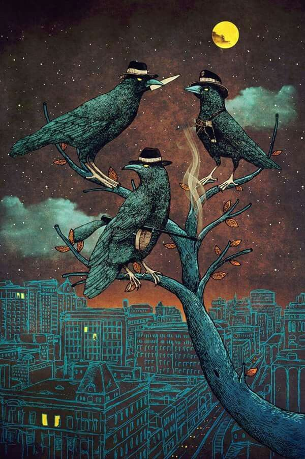 This is titled 'A Murder of Crows' and is by Alvarejo®
