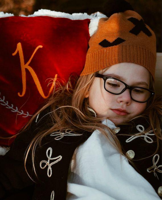 Kids world with velvet pillows by NUKI. Kids interior inspiration