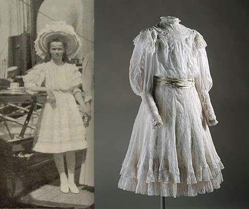 "Grand Duchess Olga Nikolaevna Romanova of Russia with the actual dress.  ""AL"""