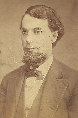 CDV PHOTO VICTORIAN GENTLEMAN THICK CHIN BEARD HAIR COMBED TO THE SIDE
