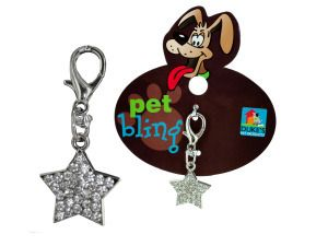 Star Shaped Bling Pet Collar Charm Dog Cat $3.40