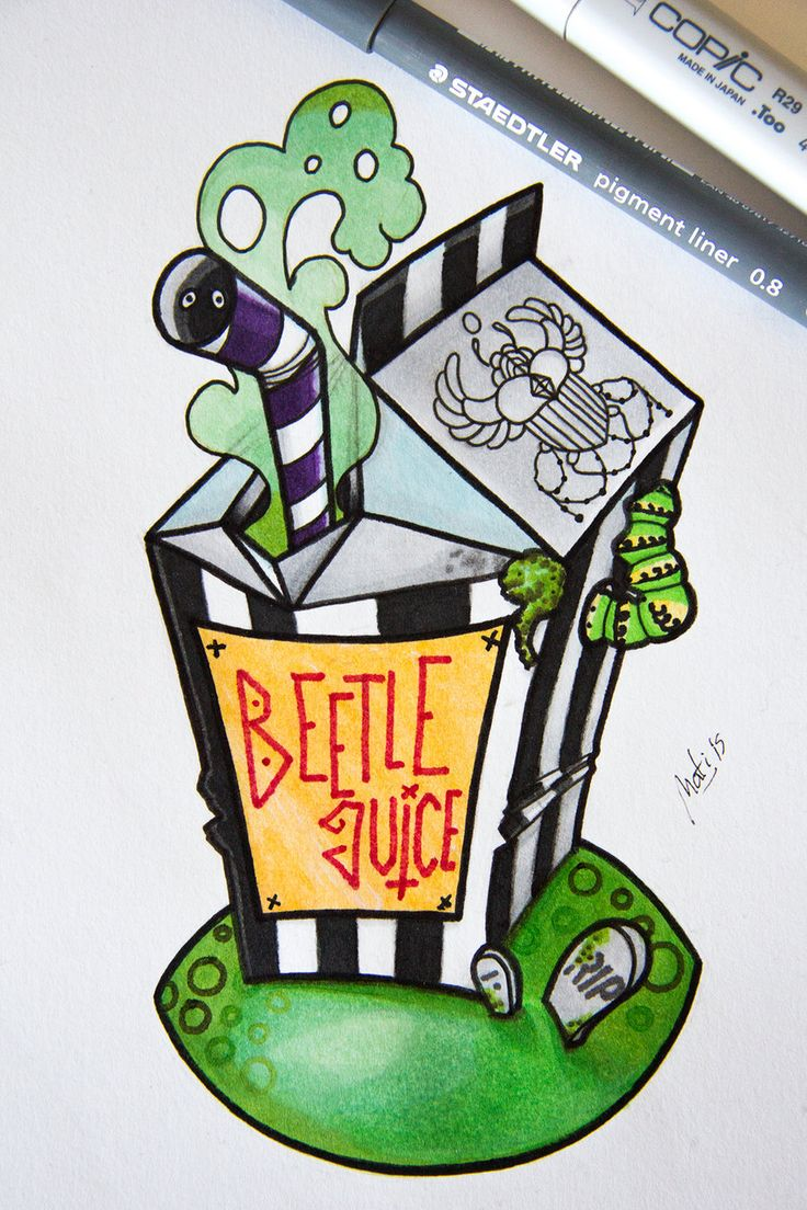 Flaming art tattoo for geek tattoo lovers this kind of batman - Beetle Juice By Nataliarey